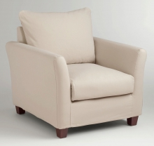 stone luxe chair slipcove